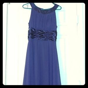 Purple semi formal gown